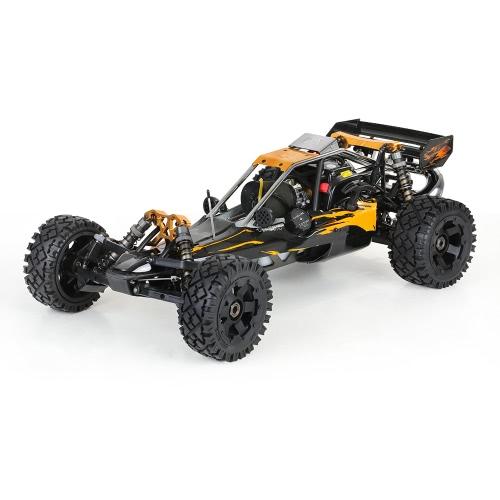 Rovan Baja320-02 32cc 2-Stroke monocilindrico 1/5 2.4GHz 4CH benzina alimentato Desert Buggy RTR RC auto con trasmettitore a schermo LCD
