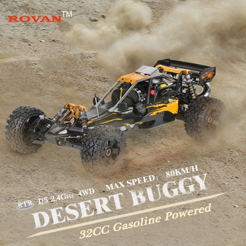 Rovan Baja320-02 32cc 2-Stroke Single-cylinder 1/5 2.4GHz 4CH Gasoline Powered Desert Buggy RTR RC Car with LCD Screen Transmitter