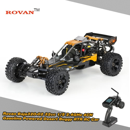 Rovan Baja320-02 32cc 1/5 2.4G 4CH Gasoline Powered Buggy RTR RC Car фото