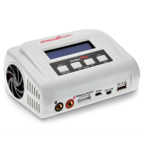 Chargeur anti-balance Ultra Power 100W UP100AC Plus avec plusieurs modes de charge Deux ports USB pour LiPo LiHV LiFe Lilon NiCd NiMh PB Batterie RC
