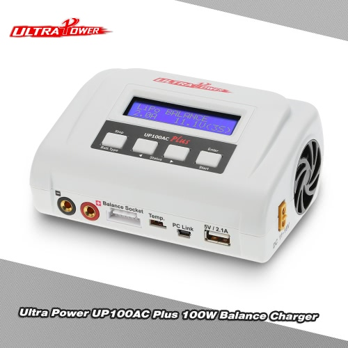 Original Ultra Power 100W UP100AC Plus Balance Charger with Multiple Charging Modes Two USB Ports for LiPo LiHV LiFe Lilon NiCd NiMh PB RC Battery