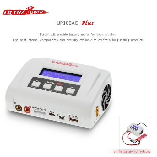 複数の充電モードリポLiHVたLiFe Lilonニッカドニッケル水素PB RCのバッテリーのための2つのUSBポートを持つウルトラパワー100W UP100ACプラスのバランス充電器