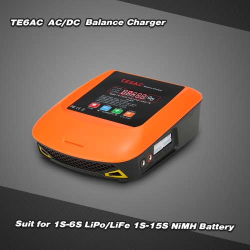 TE6AC Max Professional Balance Charger 50W 5A AC/DC  for 1S-6S LiPo/LiFe 1S-15S NiMH Battery