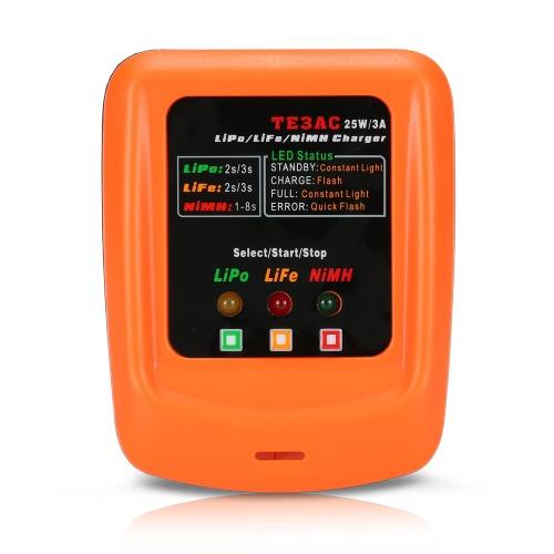 Chargeur TE3AC 25W / 3A Professional Balance pour batterie 2S 3S LiPo / 2S 3S LiFe / 1-8S NiMH