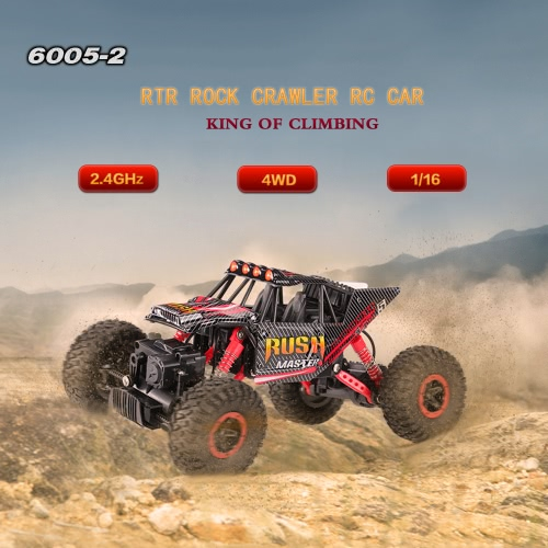 6005-2 2.4GHz 4WD 1/16 Fast Speed RTR Rock Crawler RC Car