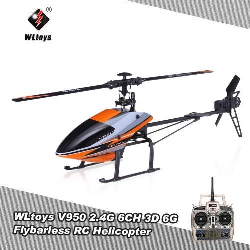 WLtoys V950 2.4G 6CH 3D 6G System Brushless Motor Flybarless RTF RC Hubschrauber