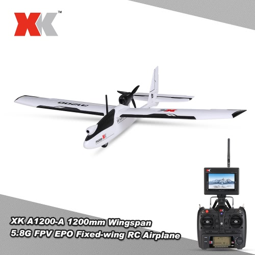 XK A1200 5.8G FPV 1080P 3D/6G 1200mm Wingspan Fixed-wing RC Airplane EPO RTF Drone Compatible with S-FHSS