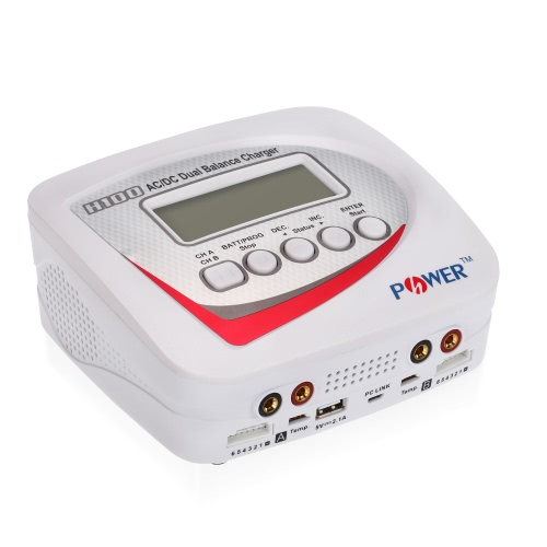 H-POWER HP2003 H100 AC/DC Dual 100W 10A Balance Charger/Discharger for LiPo LiFe Lilon LiHV NiCd NiMh Pb RC Battery