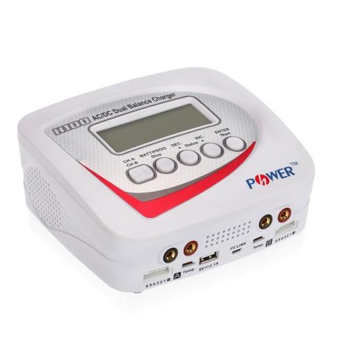 H-POWER HP2003 H100 AC / DC Cargador / descargador de doble carga 100W 10A para LiPo LiFo Lilon LiHV Batería NiCd NiMh Pb RC