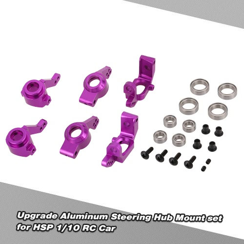 Upgrade Aluminum Steering Hub Mount set 102010 102011 102012 102068 for HSP 1/10 RC Car