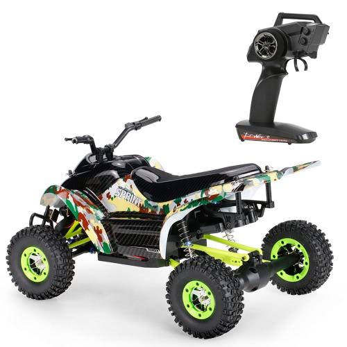 オリジナルWltoys 12428-A 1/12 2.4G 4WD 50km / h LED照明付きRTR RCカー付オフロードバイク