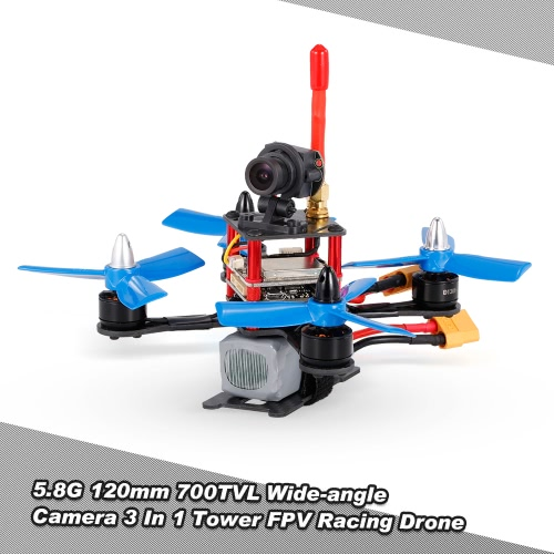 120mm 5.8G 700TVL Wide-angle Camera 3 In 1 Tower FPV Racing Drone F3 Flight Controller OSD ARF RC Quadcopter