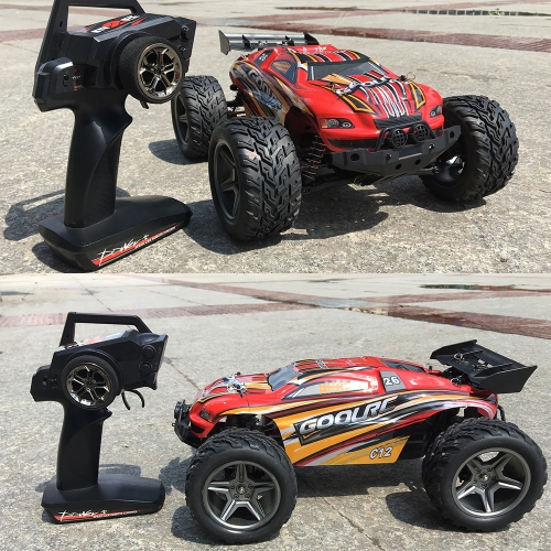 GoolRC C12 2.4GHz 2WD 1/12 35km / h Carro elétrico escovado Monster Truck Truggy Off-Road Buggy RC Car RTR