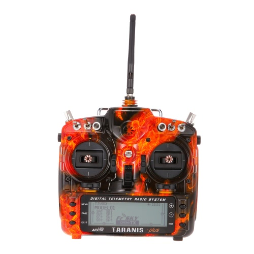 FrSky Taranis X9D Plus SE 2.4G ACCST 16CH Telemetry Radio Transmitter Open TX Mode 2 for RC Quadcopter Helicopter Blazing Skull