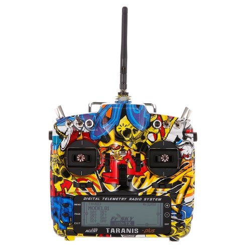 FrSky Taranis X9D Plus SE 2.4G ACCST 16CHテレメトリ無線送信機RC Quadcopter Helicopter Blazing Skull用オープンTXモード2
