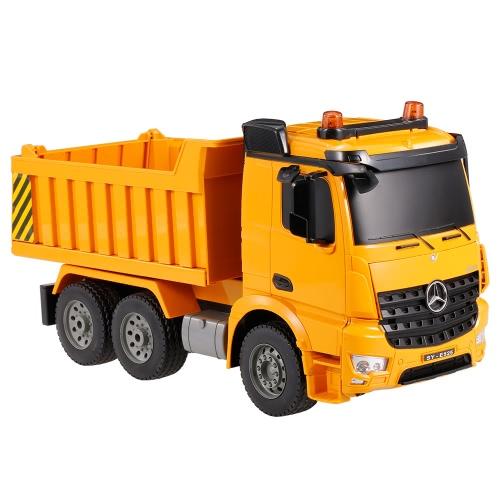 2.4G 1/20 RC Engineering Dump Truck RTR Radio Control Car LED Light Simulation Sound