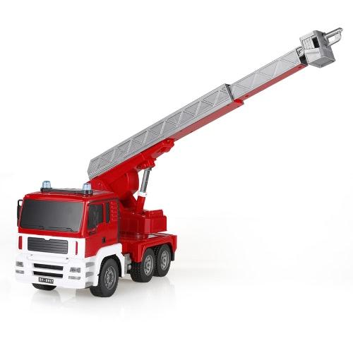 2.4G 1/20 RC Fire Truck RTR Radio Control Car LED Light Simulation Sound Image