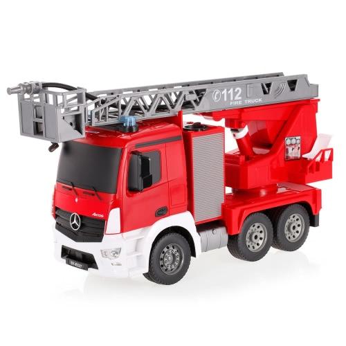 2.4G 1/20 RC消防車RTRラジコンカーLEDライトシミュレーションサウンドスプレーウォーター