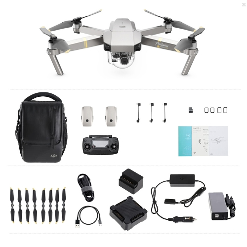 DJI Mavic Pro Platinum Foldable Avstacle Avoidance Drone FPV RC Quadcopter Fly More Combo