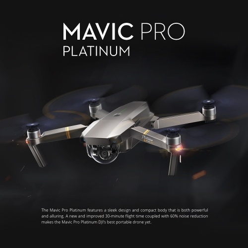 DJI Mavic Pro Platinum Foldable Obstacle Avoidance Drone FPV RC Quadcopter