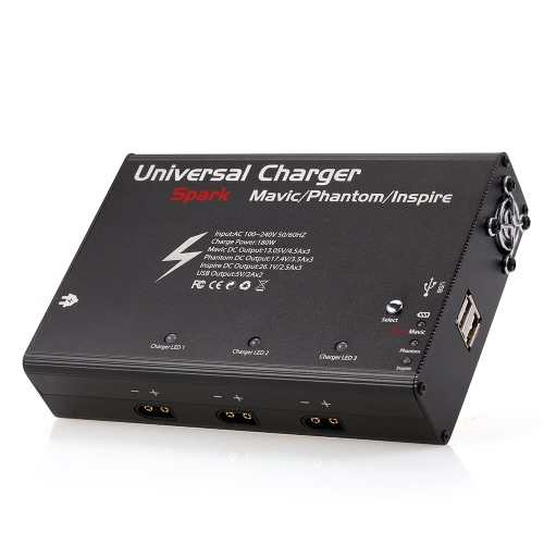 5 in 1 Universal Intelligent Battery Charger 180W for DJI Spark Mavic Pro Phantom 3 Inspire 1 Parallel Battery Hub
