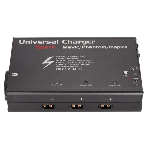 5 in 1 Caricabatteria intelligente universale 180W per DJI Spark Mavic Pro Phantom 3 Inspire 1 Hub a batterie parallele