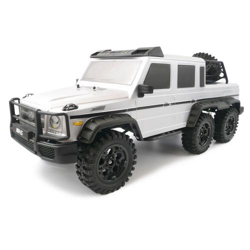 HG-P601 2.4G 1/10 6WD RCバギーカープロロッククローラー2スピードスイッチギアボックス調整可能ホイールベースRTR