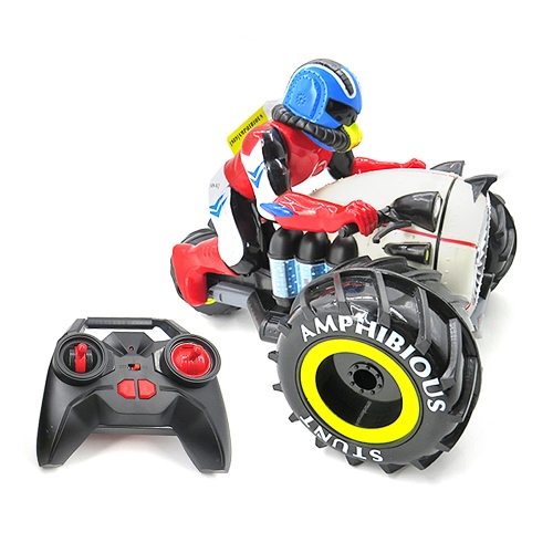 Flytec 989-333 2.4GHz Amphibious Stunt RC Motorcycle 360 Degrees Rotation Motorbike Vehicle RC Car Toy for Kids Gift