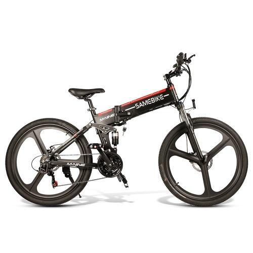 Samebike LO26 26 Inch Folding Electric Bike Power Assist Electric Bicycle E-Bike Conjoined Rim Scooter 48V 350W Motor
