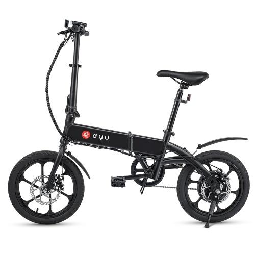 Складной электрический велосипед DYU A1F 16 дюймов