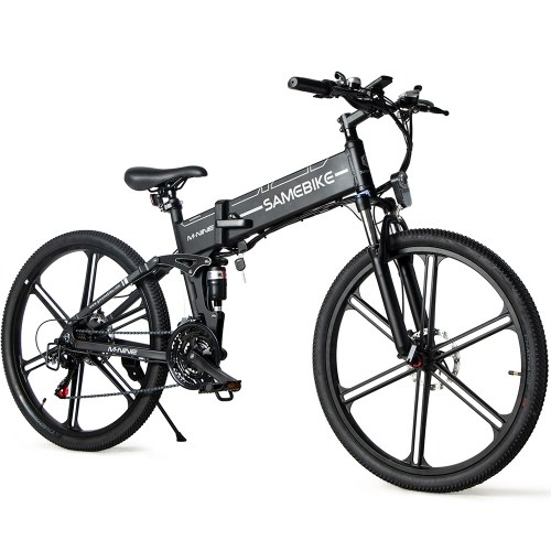 Samebike LO26-II 26Inch Folding Electric Bicycle with 500W Brushless Motor