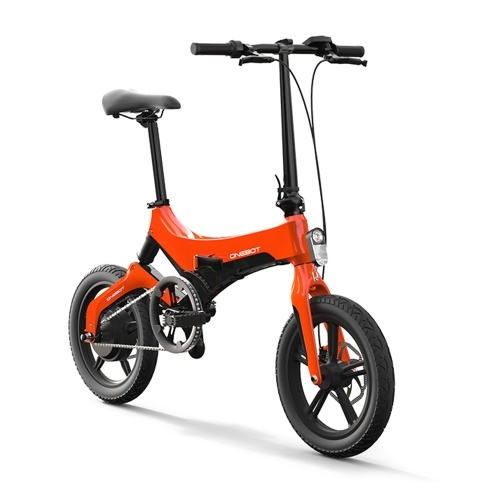 Onebot S6 16 Inch Folding Electric Bicycle Power Assist Moped Electric Bike E-Bike   250W Motor and Dual Disc Brakes Image