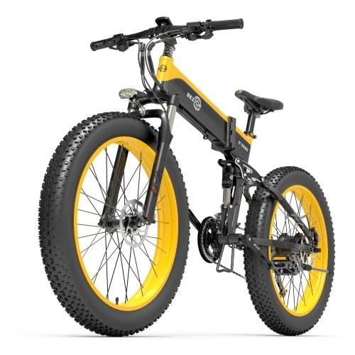 BEZIOR X500 500W Folding Electric Bike 26 x 4 Inch Fat Tire Snow Bike