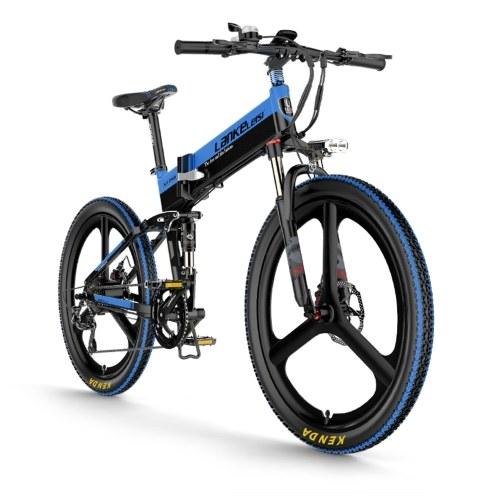Bicicleta eléctrica plegable LANKELEISI XT750 ELITE Edition de 26 pulgadas