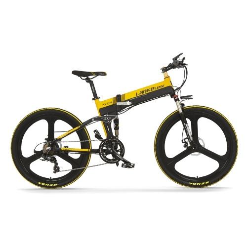 """LANKELEISI XT750 ELITE Edition 26 """"bicicleta elétrica dobrável"""