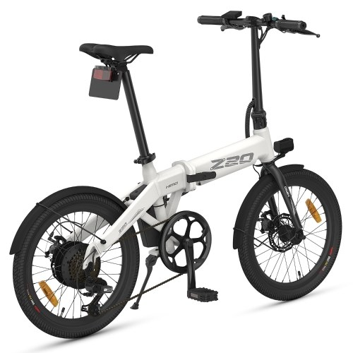 HIMO Z20 20 Inch Folding Power Assist Electric Bicycle 80KM Range 10AH Removable Battery Moped E-Bike Electric Bike with Mudguard and Inflation Pump Image