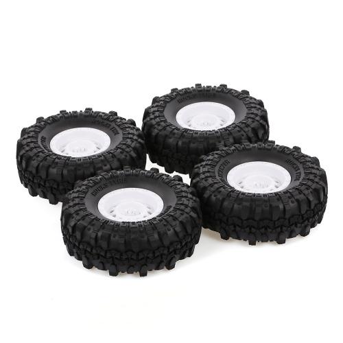 4pcs AUSTAR 110mm 1.9 Inch Rim Rubber Tyre Tire Wheel