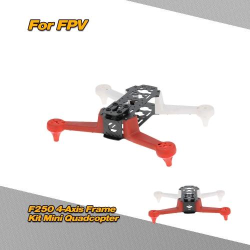 HJ2804-X1 F250 4-Achsen-FPV Racing Drone-Rahmen-Kit mit Kunststoff Fahrwerk und Carbonrahmen für RC Quadcopter QAV250 Aerial Photography