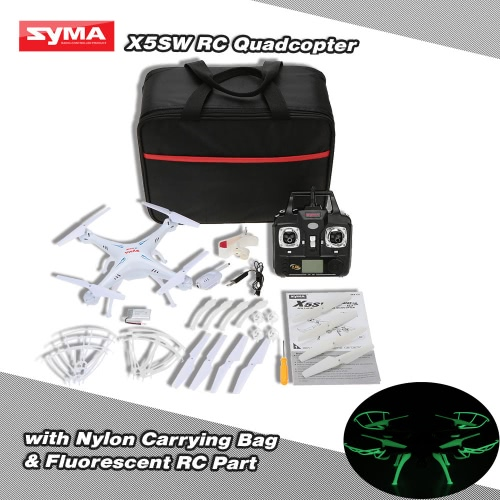 Original Syma X5SW 4CH 2.4G 6-axis Gyro RC Wifi 0.3MP Camera FPV Quadcopter with Nylon Carrying Bag & Fluorescent Sets