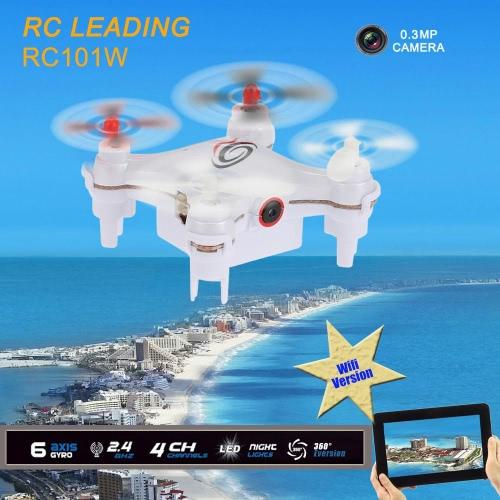 0.3 RC101W WIFI FPV 4 ch 6 軸ジャイロ RC Quadcopter をリード RC カメラ