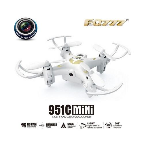元 FQ777 951 C 2.4 GHz 4 ch 6 軸ジャイロ 0.3 mp カメラ ミニ RC Quadcopter RTF ヘッドレス モードの 3 D フリップ