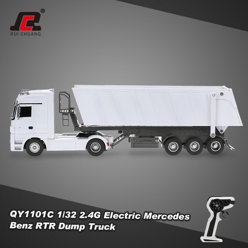 RUICHUANG QY1101C 1/32 2.4G elettrica Mercedes Benz Dump Truck RTR RC auto
