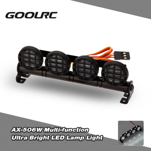 GoolRC AX-506W Multi-function Ultra Bright LED Lamp Light for 1/8 1/10 HSP Traxxas TAMIYA CC01 4WD Axial SCX10 Monster Truck Short Course RC Car
