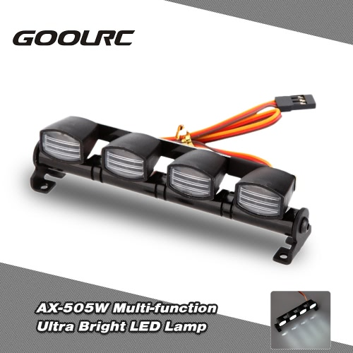 Original GoolRC AX-505W Multi-function Ultra Bright LED Lamp Light for 1/8 1/10 HSP Traxxas TAMIYA CC01 4WD Axial SCX10 Monster Truck Short Course RC Car