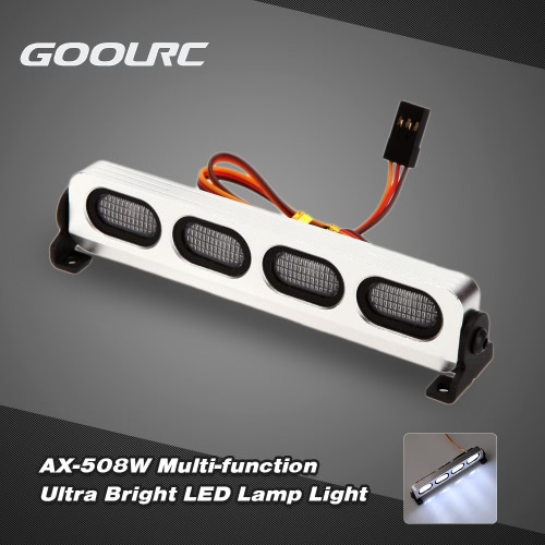 GoolRC AX-508BL Ultra Bright LED Lamp Light for 1/8 1/10 HSP Traxxas TAMIYA Axial SCX10 Monster Truck Short Course RC Car