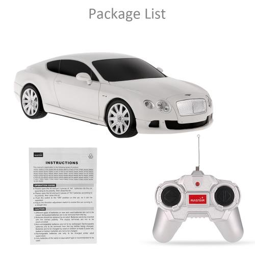 Original RASTAR 48600 R/C 1/24 Bentley Continental GT Speed Radio Control Car Toy Boys Gift Image
