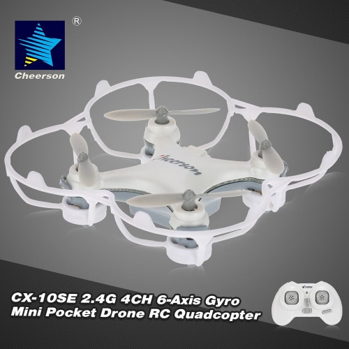 Original Cheerson CX-10SE 2.4G 4CH 6-Axis Gyro Mini Drone UFO with LED Lights RTF RC Quadcopter от Tomtop.com INT