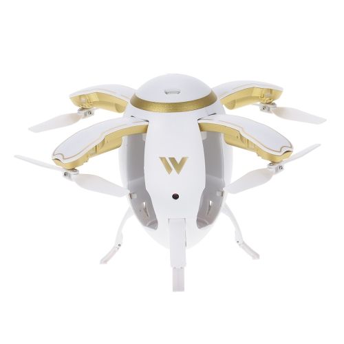 Attop W5 Volant oeuf Drone WIFI FPV Pliable Quadcopter RC avec 0.3M caméra Altitude Hold