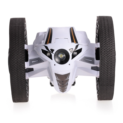 2.4GHz Remote Control Bounce Car 360 ° Rotation 3 LED Lights Jumping Car con musica Robot a due ruote