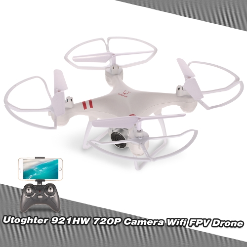 Utoghter 921HW 720P Wide Angle Camera Wifi FPV Drone Height Hold One Key Return G-sensor RC Quadcopter